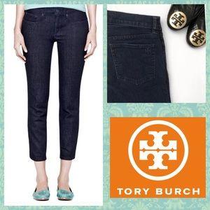 Tory Burch Cropped Skinny Jeans SZ.25